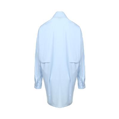 drop shoulder shirt dress skyblue 1